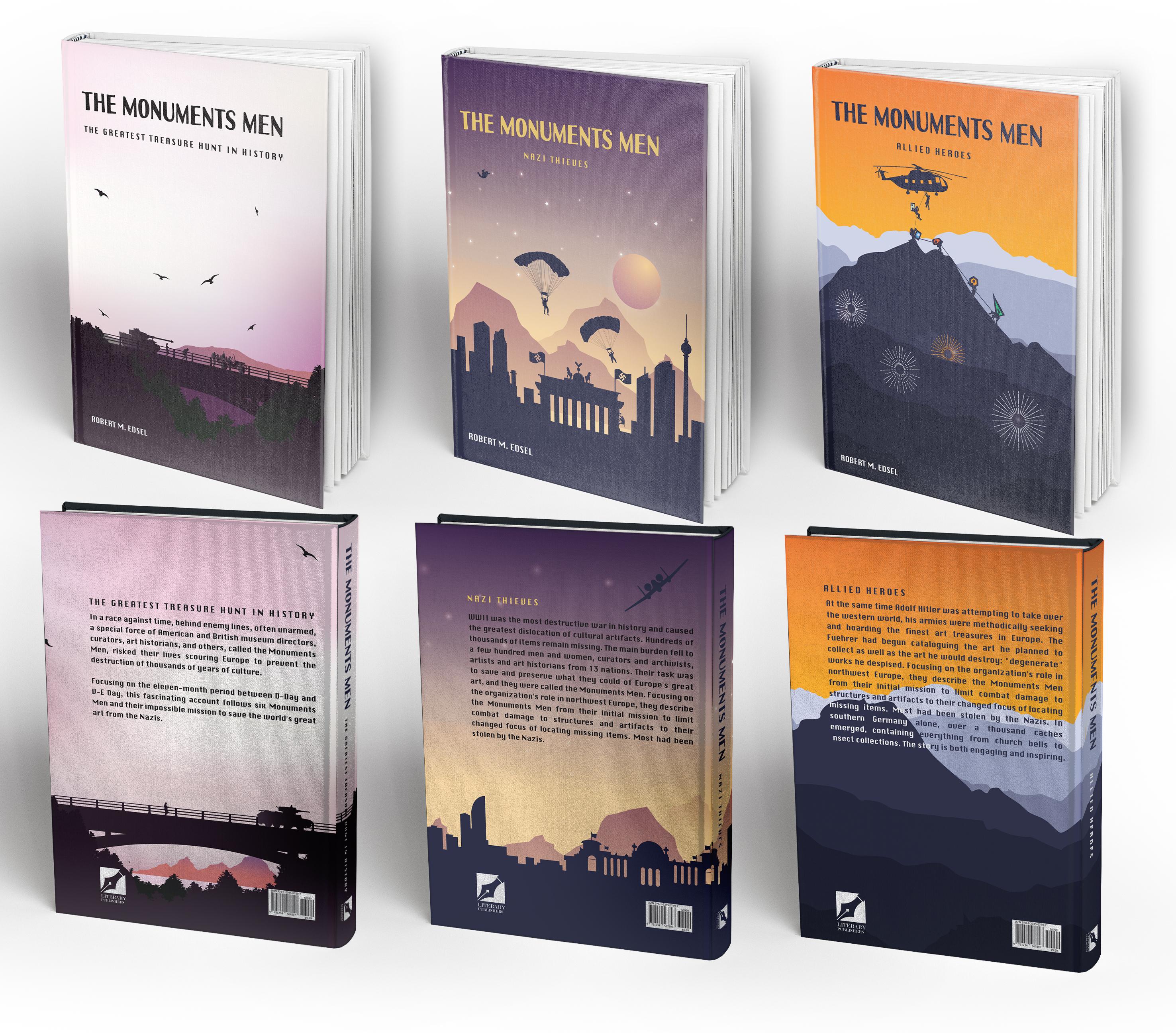 The Monuments Men (Trilogy) – Book cover Design